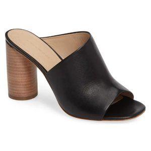 Pour La Victoire Helena Black Mule Sandals 8.5